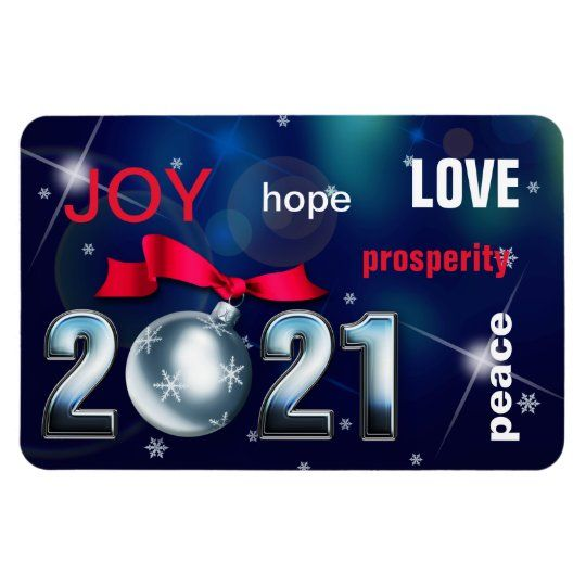 Happy New Year 2021 Christmas Bauble Magnet Zazzle Com In 2020 Happy New Year Cards Personalised Christmas Cards Business Christmas Cards