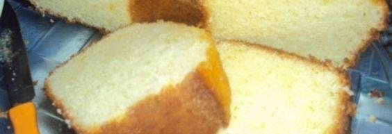 Bolo delicioso de creme de leite (Nata)