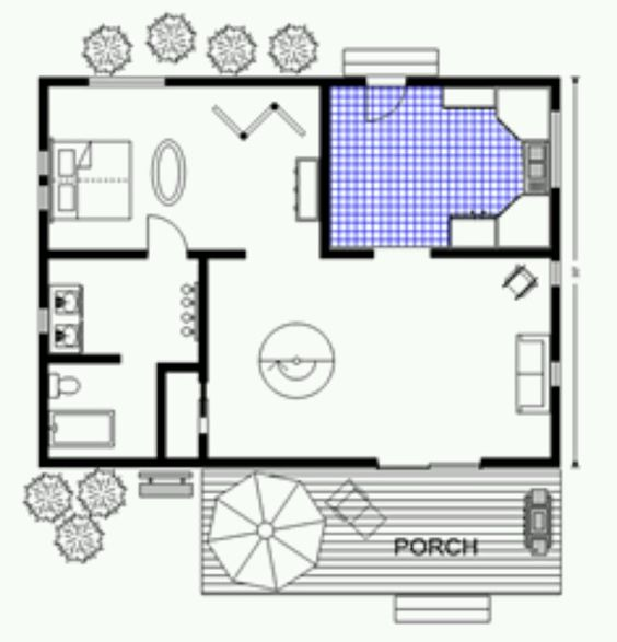 Log cabin plans under 500 square feet for 500 square foot cabin plans