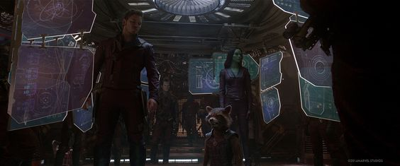 Monitor Graphics by Cantina Creative (Guardians of the Galaxy - 2014 Marvel Studios) http://www.cantinacreative.com/guardians/