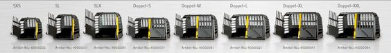 Die neue Hundebox VarioCage von Kleinmetall in verschiedenen Größen.
