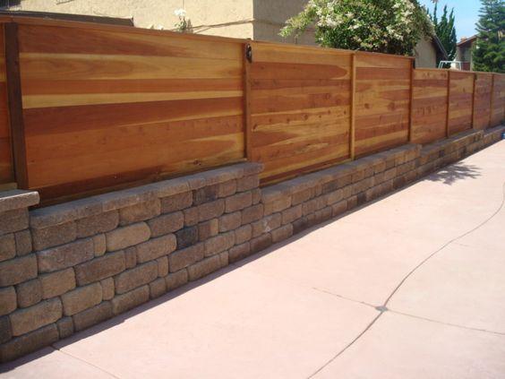 Horizontal Wood Fence Cedar Wood Fence Horizontal Fences