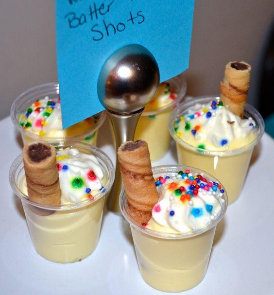 Vanilla Pudding Shots With Cake Vodka
