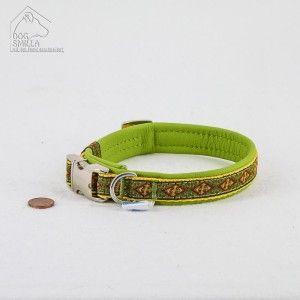 """Mini Leder Halsband """"Rood"""" gelb  24,90€"""