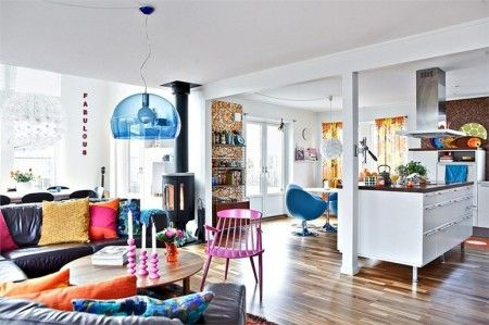 Retro nordic living room