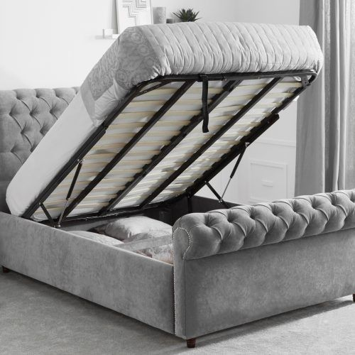 Swell The Sleigh Bed With Ottoman Storage Luxury Ottoman Beds At Caraccident5 Cool Chair Designs And Ideas Caraccident5Info