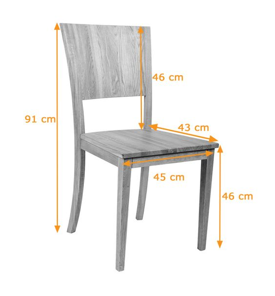 Dining chair size architecture standardsize pinterest for Dining chair dimensions
