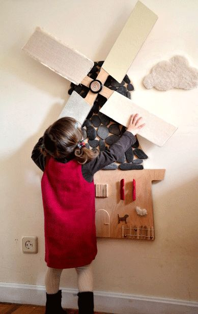 Put a SENSORIAL WINDMILL in the kid´s room to experiment, play, feel and DECORATE – by ALINI – Babyecochic.com