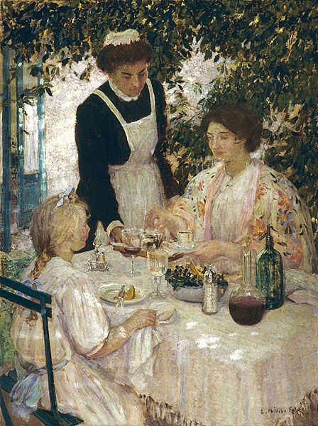 Déjeuner ~ Emanuel Phillips Fox ~ (Australian: 1865-1915):