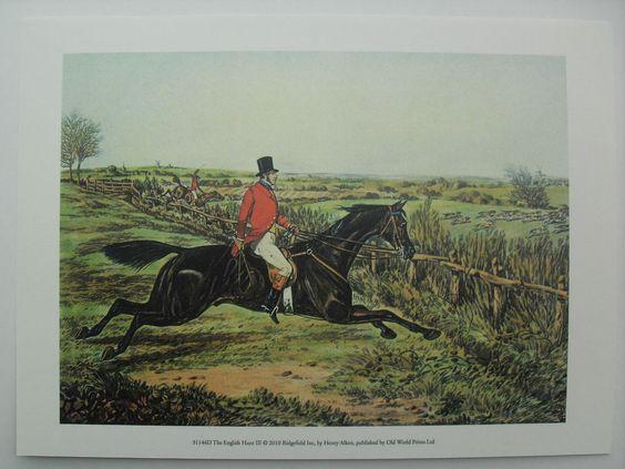 Hunting Art Print, The English Hunt III by Henry Alken