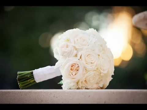 بوكيهات ورد ابيض طبيعي للزفاف 2018 White Rose Bridal Bouquet White Wedding Bouquets Rose Bridal Bouquet