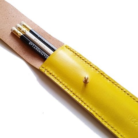 Pencil Sleeve Yellow