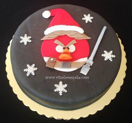 Angry Birds Star Wars Cake by RitsaLovesCake