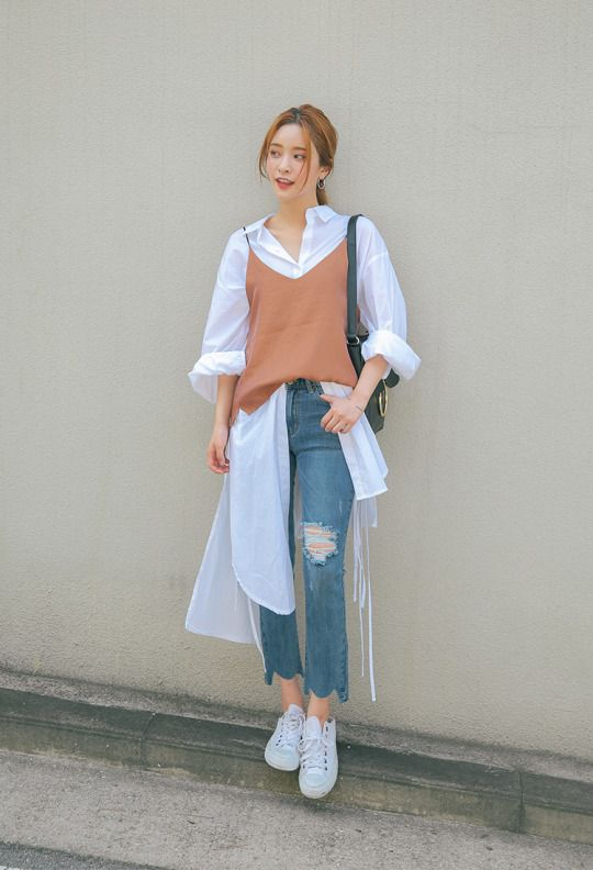 jeans + whites