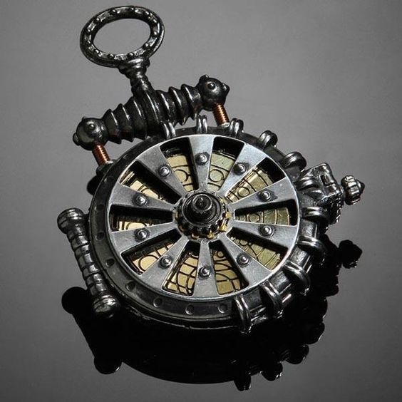 Solar Turbine Steampunk Pocket Watch    You have many ways to show your love to those awesome steampunk creations such as the steampunk iPhone 4 case and the telescope ring, while the latest finding is the following Solar Turbine Steampunk pocket watch.