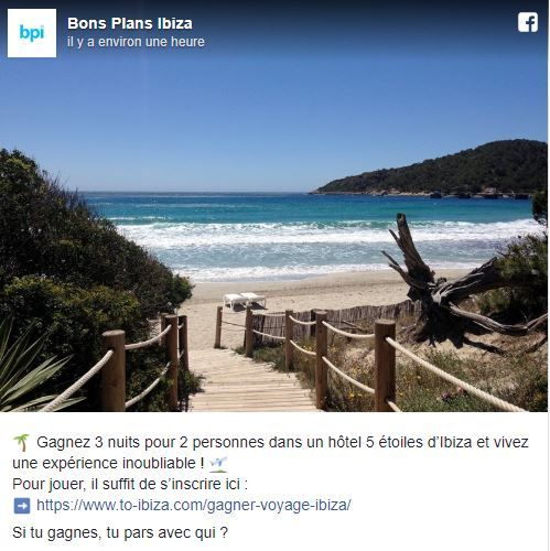 Gagne Voyage Ibiza Jeu Concours Bpi Page Facebook Ibiza Voyage Ibiza Voyage