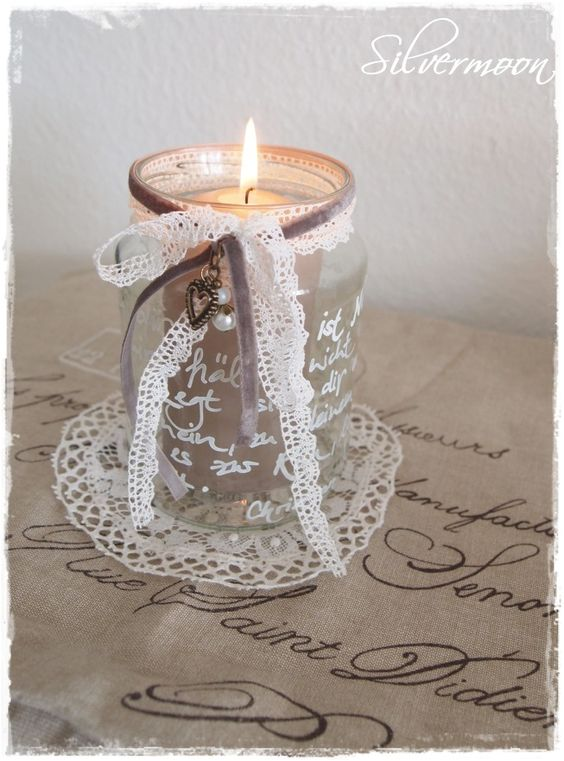 Shabby Chic Simple Candle Light