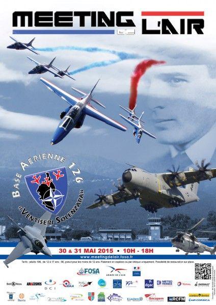 Meeting aérien 2015 de Ventiseri-Solenzara.                    Les 30 et 31 mai 2015, la Fondation des Œuvres Sociales de l'Air (FOSA) organise le meeting de Ventiseri-Solenzara sur la base aérienne 126, en Corse.  Ce meeting est l'occasion pour les visiteurs de voir pendant deux jours de nombreux avions militaires d'hier et d'aujourd'hui, en vol comme au sol.  Pour cette deuxième édition en terre corse, retrouvez les avions de Dassault Aviation avec notamment des démonstrations dans les…