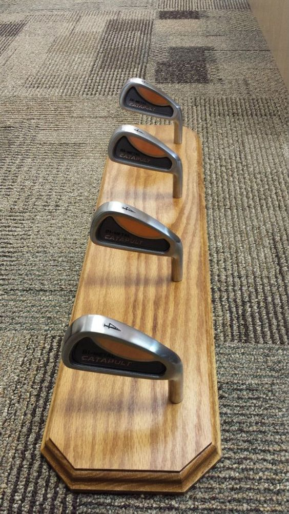 Amish hand crafted oak golf club racks with by AmishWoodPlaques