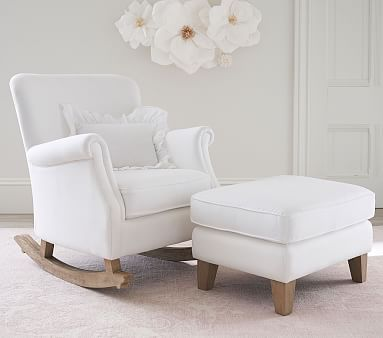 Minna Small Spaces Rocking Chair Ottoman Rocking Chair Nursery