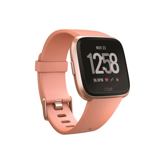Fitbit Peach Rose Gold Aluminum Versa Smartwatch Smart Watch