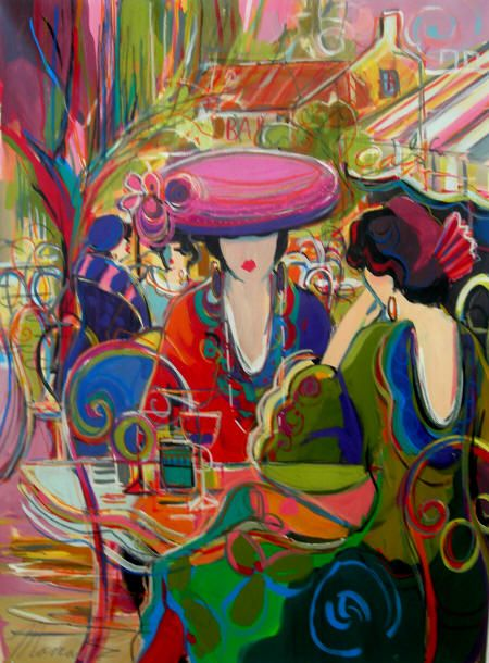 The Red Lips - acrylic/oil by ©Isaac Maimon - www.maimonpalgallery.com/maimonart.htm: