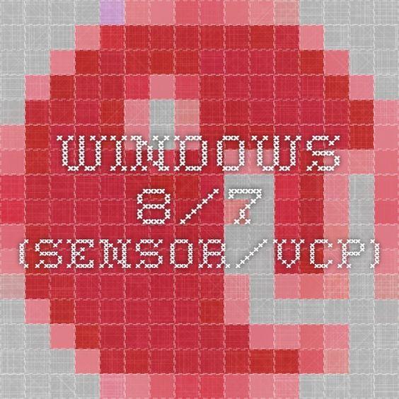 Windows 8/7 (sensor/VCP)