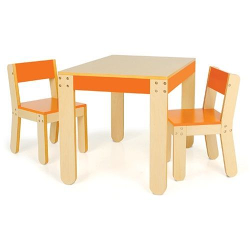 Table and Chairs, Orange