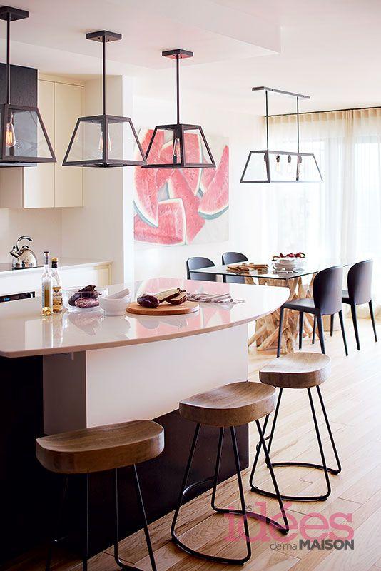 un condo moderne et chaleureux les ides de ma maison photo tva publications - Salon Moderne Etchaleureux