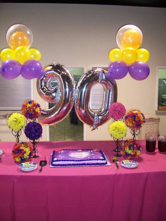 1000 Ideas About 90th Birthday Decorations On Pinterest