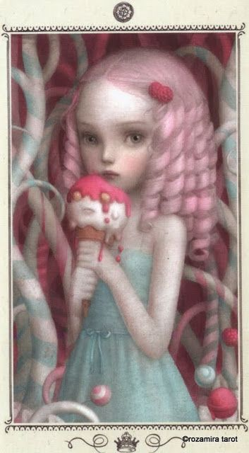 Queen of Coins - Nicoletta Ceccoli Tarot by Nicoletta Ceccoli