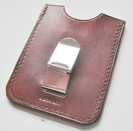 designer wallet with money clip cjai  Money Flip Clip Wallet  Mens Leather money clip by johnbrandonusa