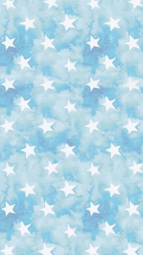 Blue wallpaper home screen light