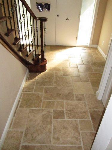 Foyer Tile Direction : Travertine foyers and tile patterns on pinterest