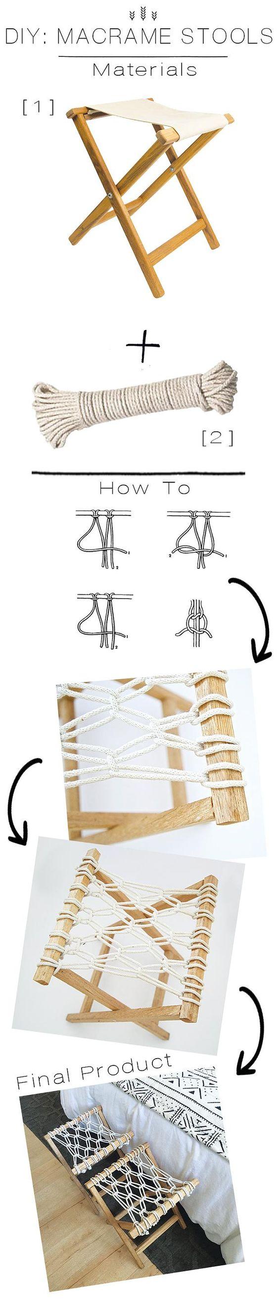 JDP Interiors | DIY: Macrame Stools: