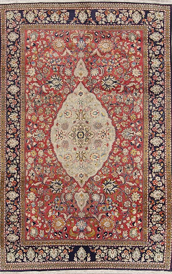 One Of A Kind Tabriz Floral Handmade 6x10 Red Wool Vintage Persian Area Rug 9 11 Quot X 6 5 Quot Persian Area Rugs Vintage Area Rugs Area Rugs