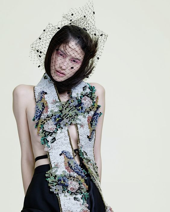 """""""Nothing in Nature is Unbeautiful"""", Sui He in Maison Martin Margiela photographed by Billy Nava for Glass #16 Winter 2013."""