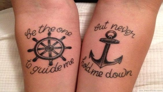 Matching Lovely Tattoo Ideas for Couples Showing Proof of Love
