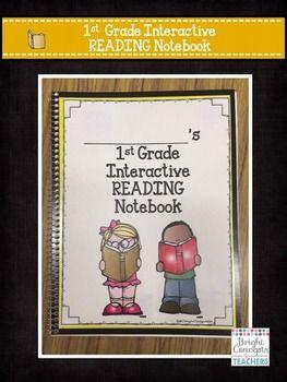 1ST GRADE READING INTERACTIVE NOTEBOOK {COMMON CORE ALIGNED} - TeachersPayTeachers.com