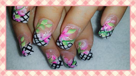 Checker nail design