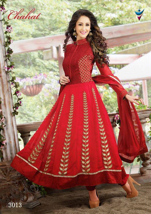 Details about Anarkali Indian Designer New Dress Salwar Kameez