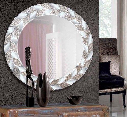 Espejo De Pared Redondo Con Marco De Cristal Modelo Pascale