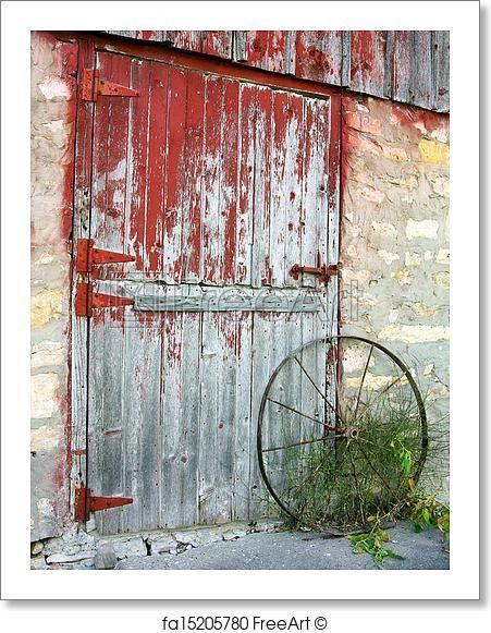 Free Art Print Of Rustic Old Barn Door Old Barn Doors Barn Door Pictures Barn Pictures