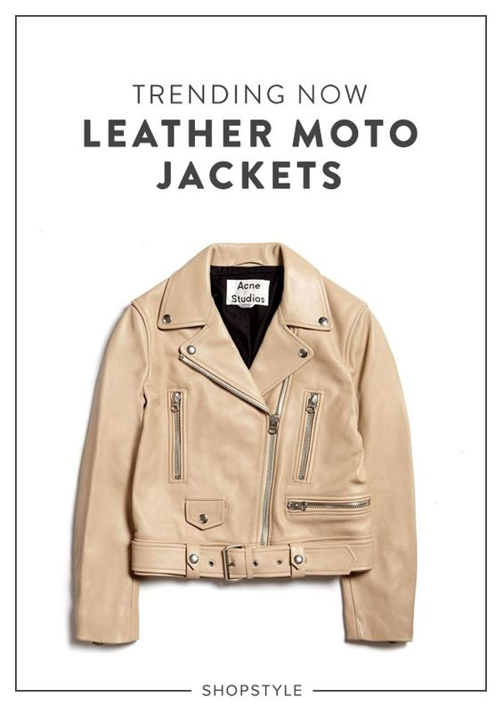 A leather moto is about to be your new favorite jacket.
