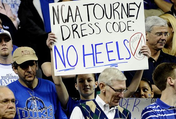 No HEELS! that is by far the best sign ever!