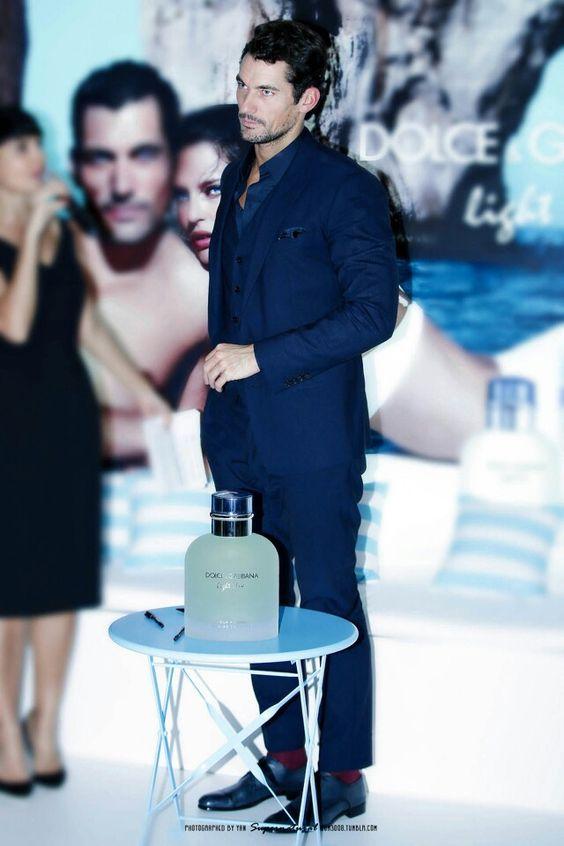 David at a D&G Light Blue meet and greet in Singapore 10/18/15
