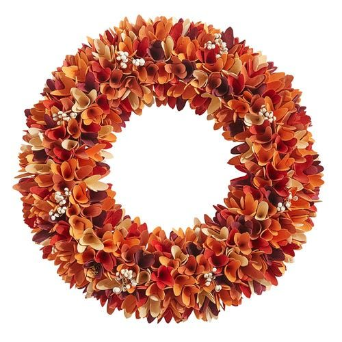 21 Fall Wood Curl Wreath With Berries