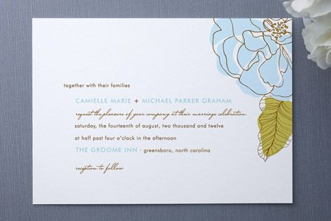 Simple Sophisticate Wedding Invitations by Oscar & Emma at minted.com comes in red
