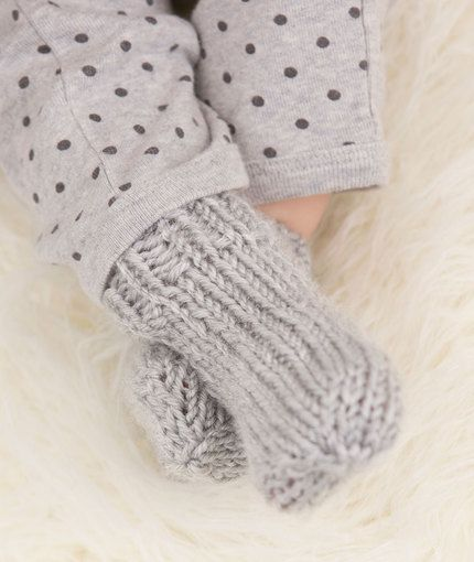Baby Socks Free Knitting Pattern in Red Heart Yarns - Knit them with love in ...