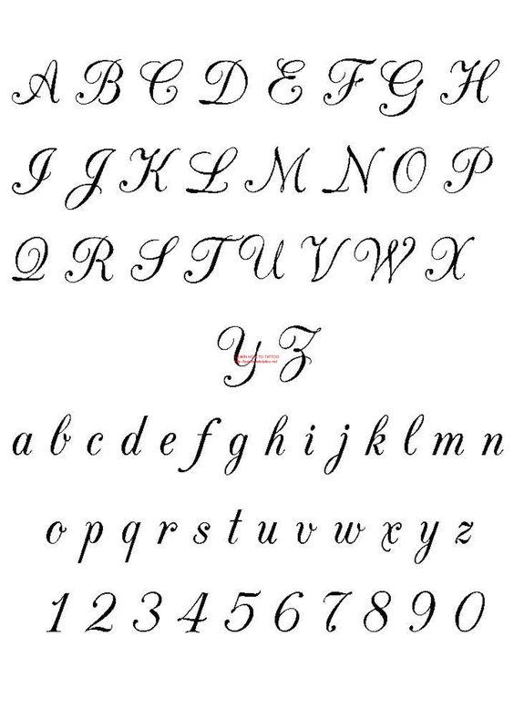 Kalligrafie Tattoos And Schriftarten On Pinterest